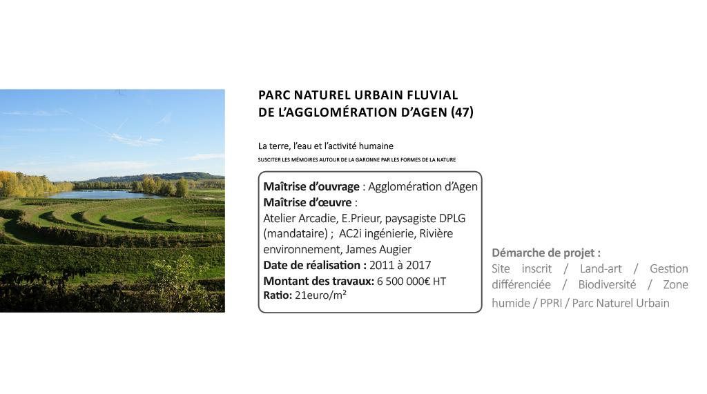 PARC NATUREL URBAIN FLUVIAL DE L'AGGLOMÉRATION D'AGEN (47)